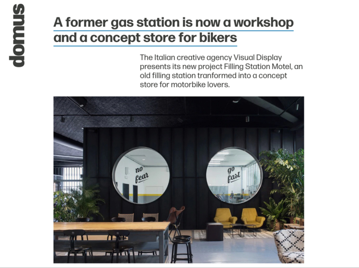 'Filling Station Motel' on DOMUS